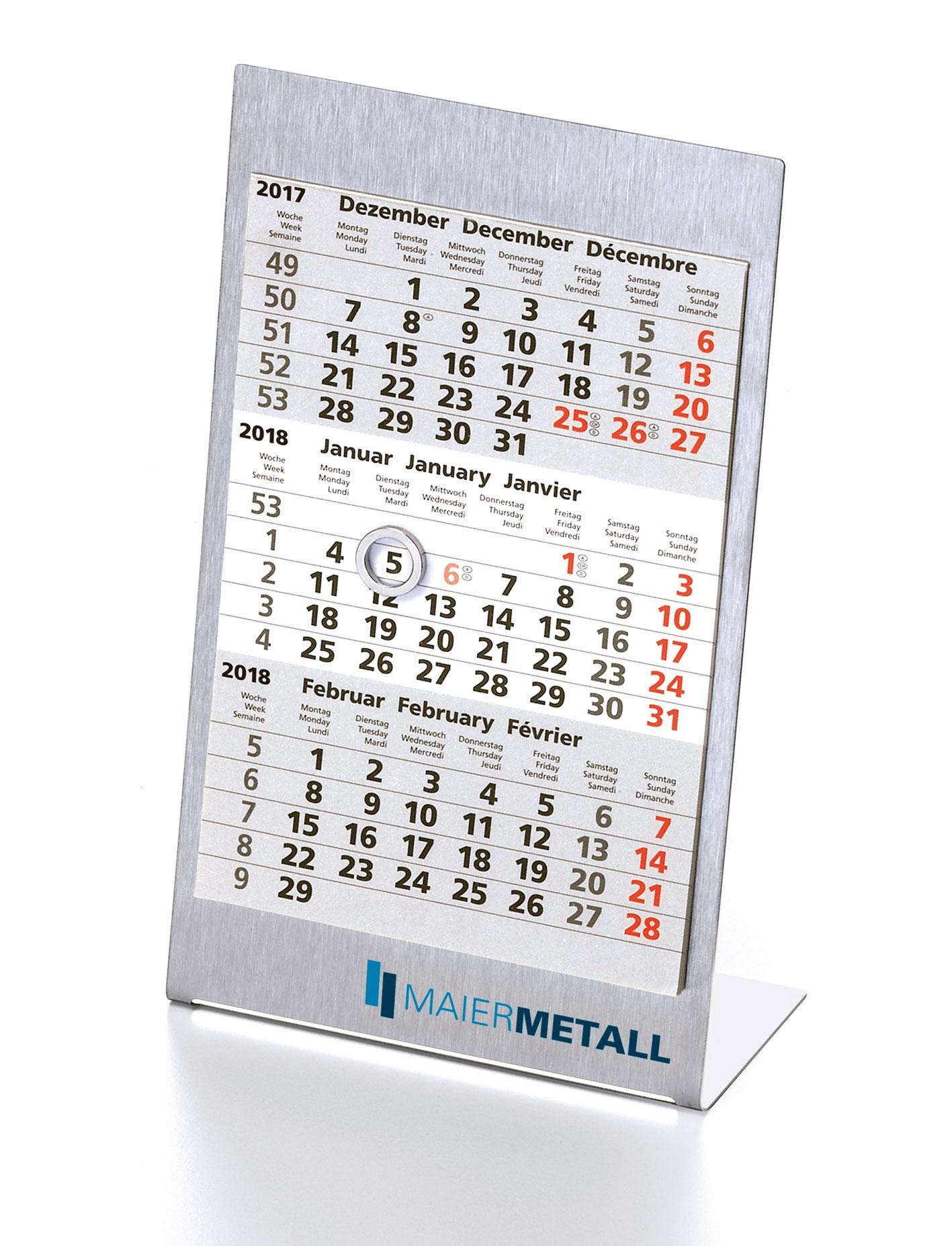 3 maands bureau kalender promoticom for Bureau kalender